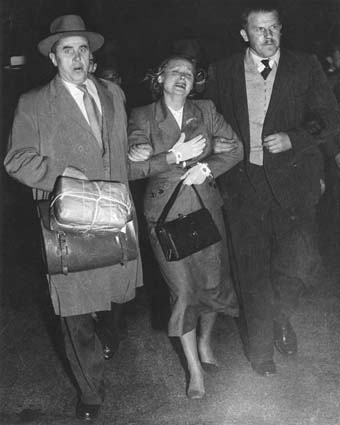 Petrova Being Taken To The Plane At Mascot Airport. Ern was part of history!