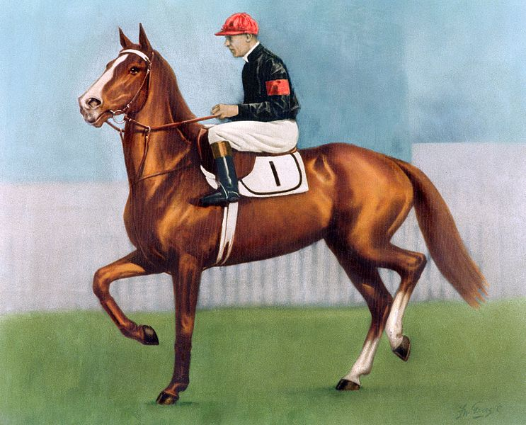 Darby on Rogilla in the 1933 W S Cox Plate