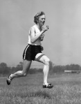 Betty Cuthbert kindly posed this shot for Ern.