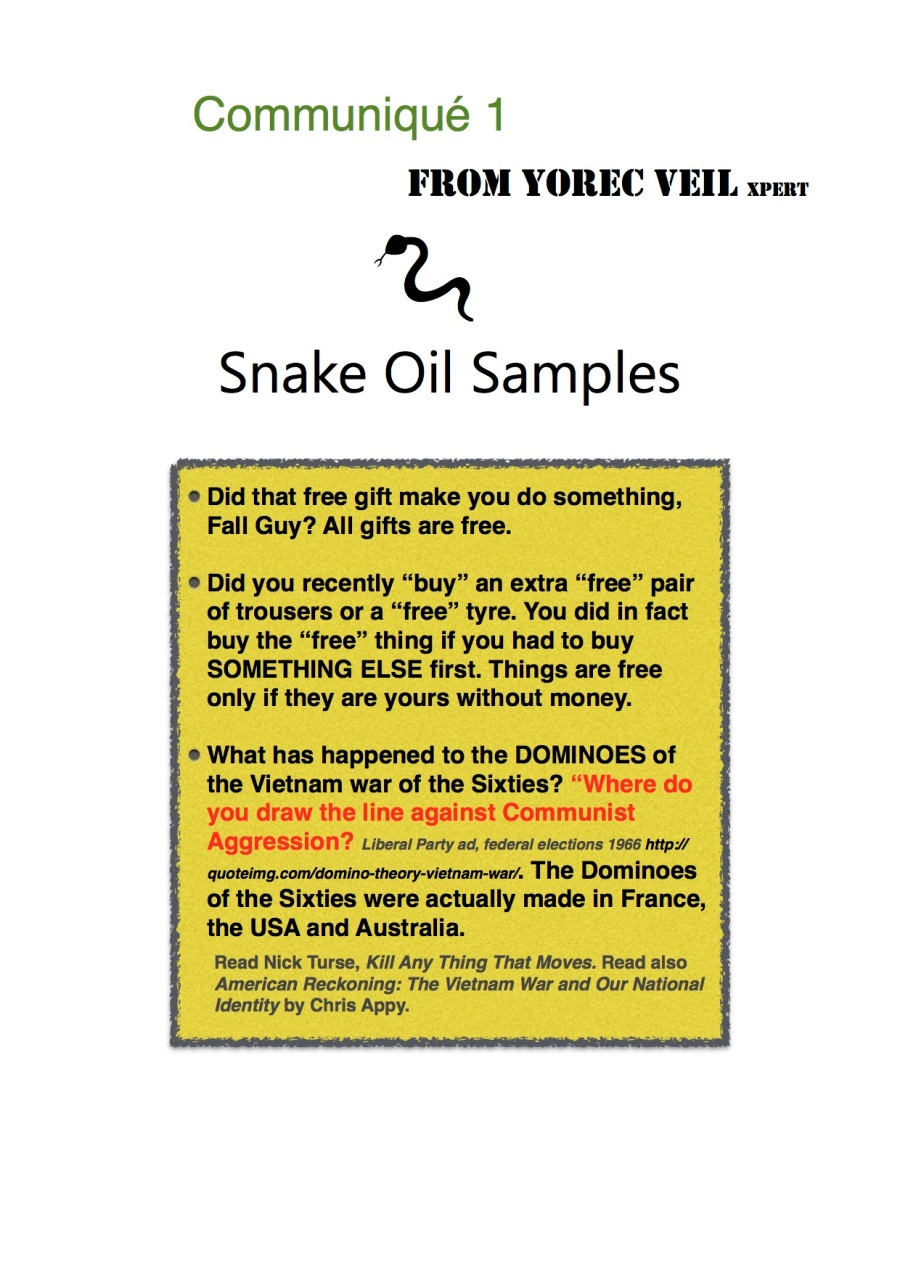 Snake Oil Sales 1