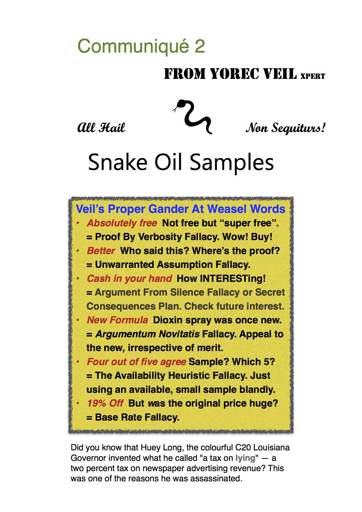 Snake Oil Sales 2