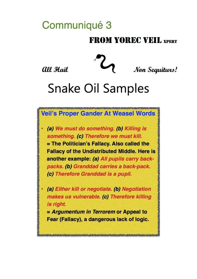 Snake Oil Sales 3