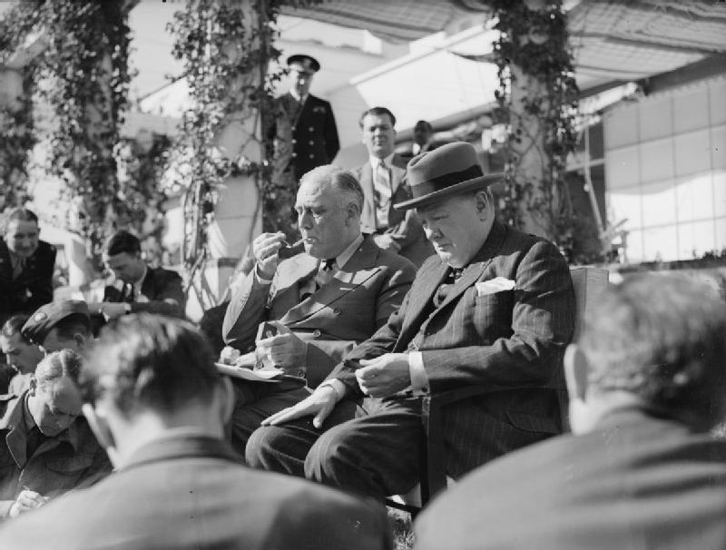 President_Roosevelt_and_Prime_Minister_Churchill_at_the_Allied_Conference_in_Casablanca,_January_1943_A14153